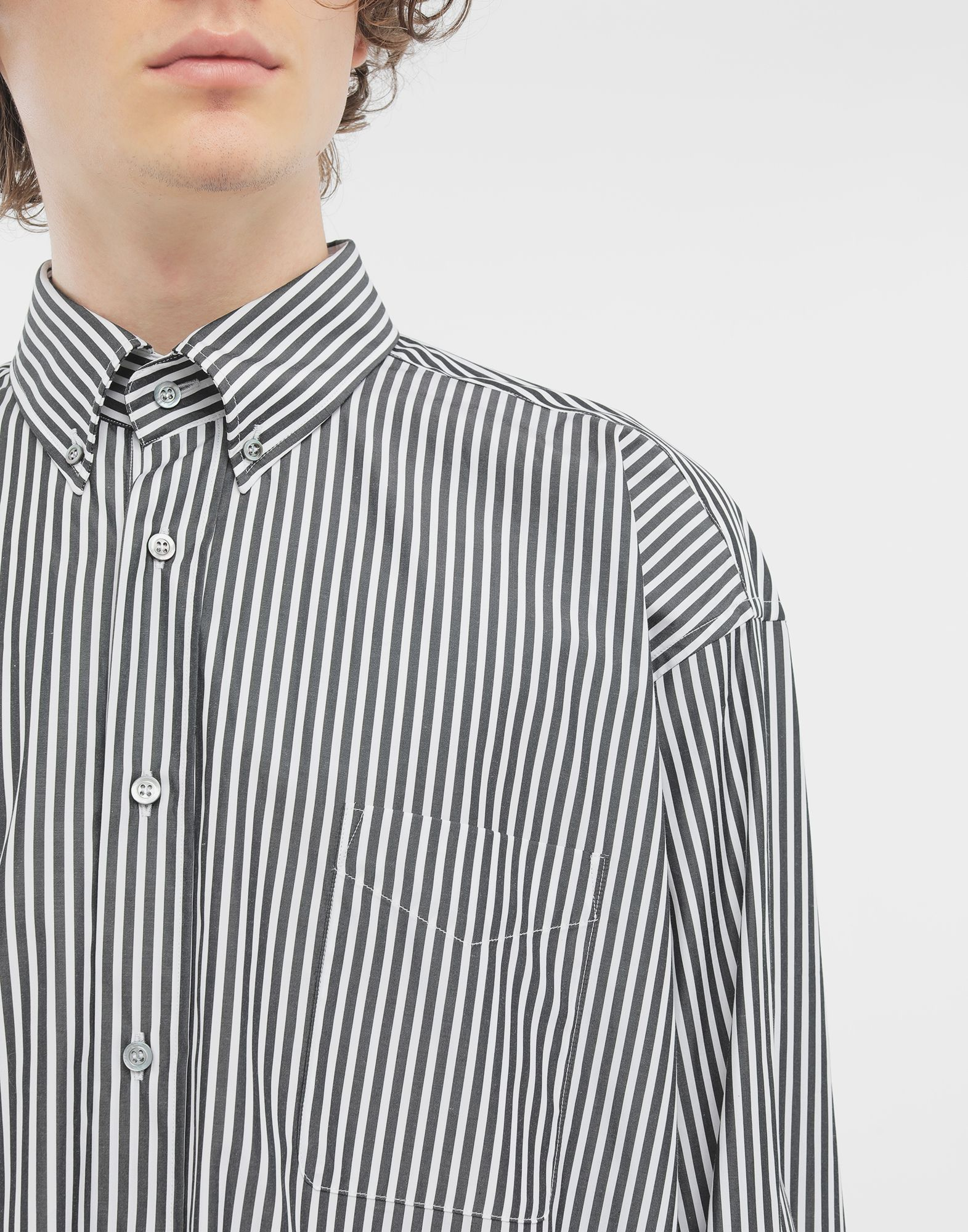 MAISON MARGIELA Striped shirt Long sleeve shirt Man a