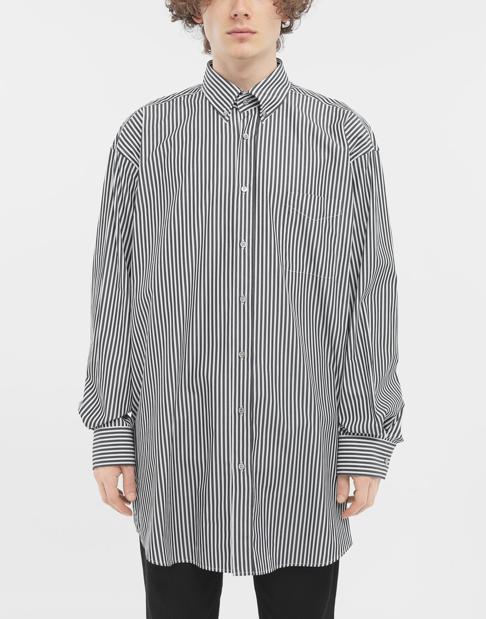 MAISON MARGIELA Striped shirt Long sleeve shirt Man r
