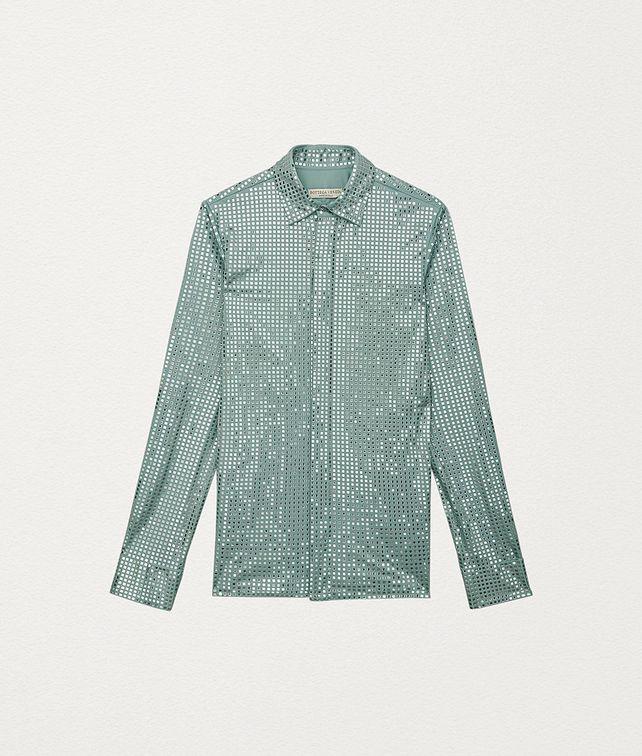 BOTTEGA VENETA SHIRT IN EMBELLISHED SATIN JERSEY Shirt and T-Shirt Woman fp