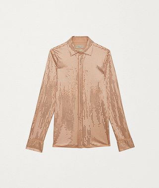 SHIRT IN EMBELLISHED SATIN JERSEY