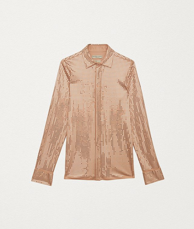 BOTTEGA VENETA SHIRT IN EMBELLISHED SATIN JERSEY Shirt and T-Shirt Woman fp
