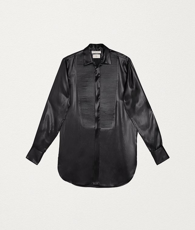 BOTTEGA VENETA SHIRT IN LACQUER SATIN Shirt and T-Shirt Woman fp