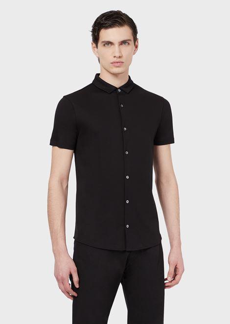99fb6d4c Short-sleeved shirt in cotton jersey