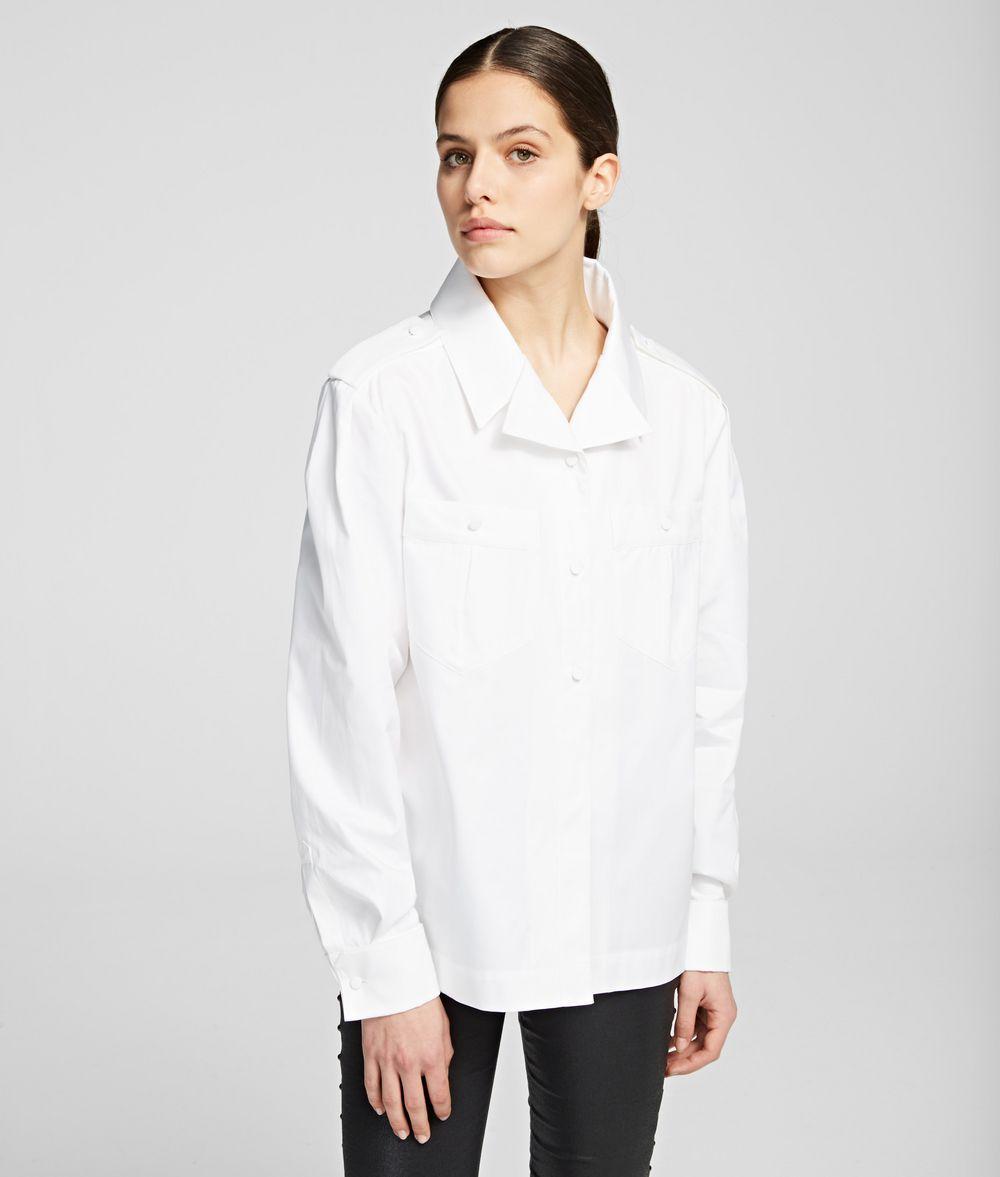 KARL LAGERFELD K/Styles Volume Shirt Blouse Woman f