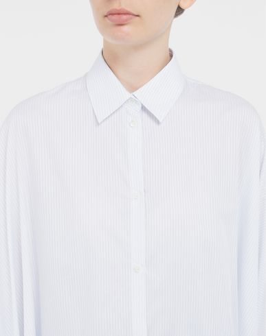 SHIRTS Pinstripe asymmetric shirt White