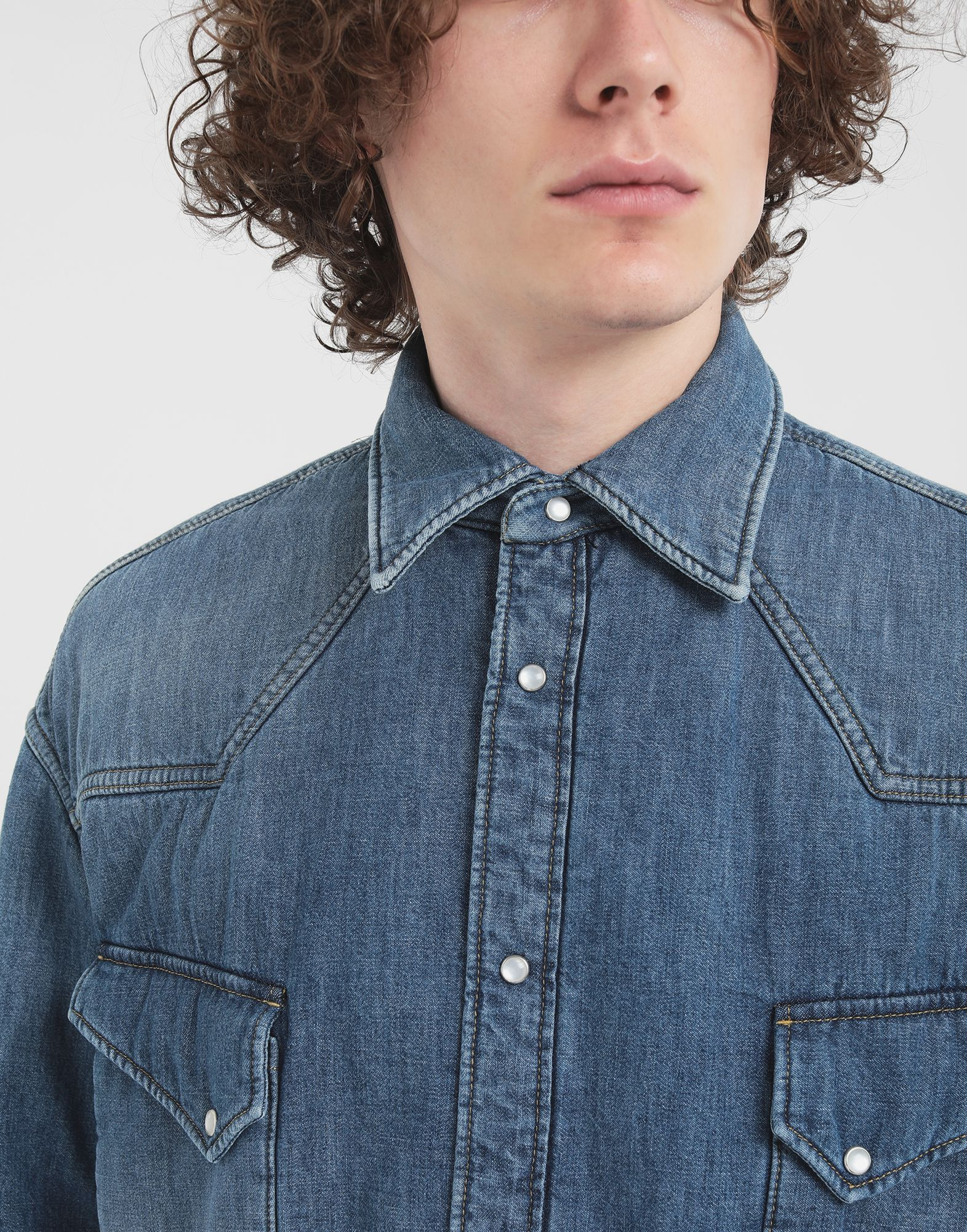 MAISON MARGIELA Oversized denim shirt Long sleeve shirt Man a