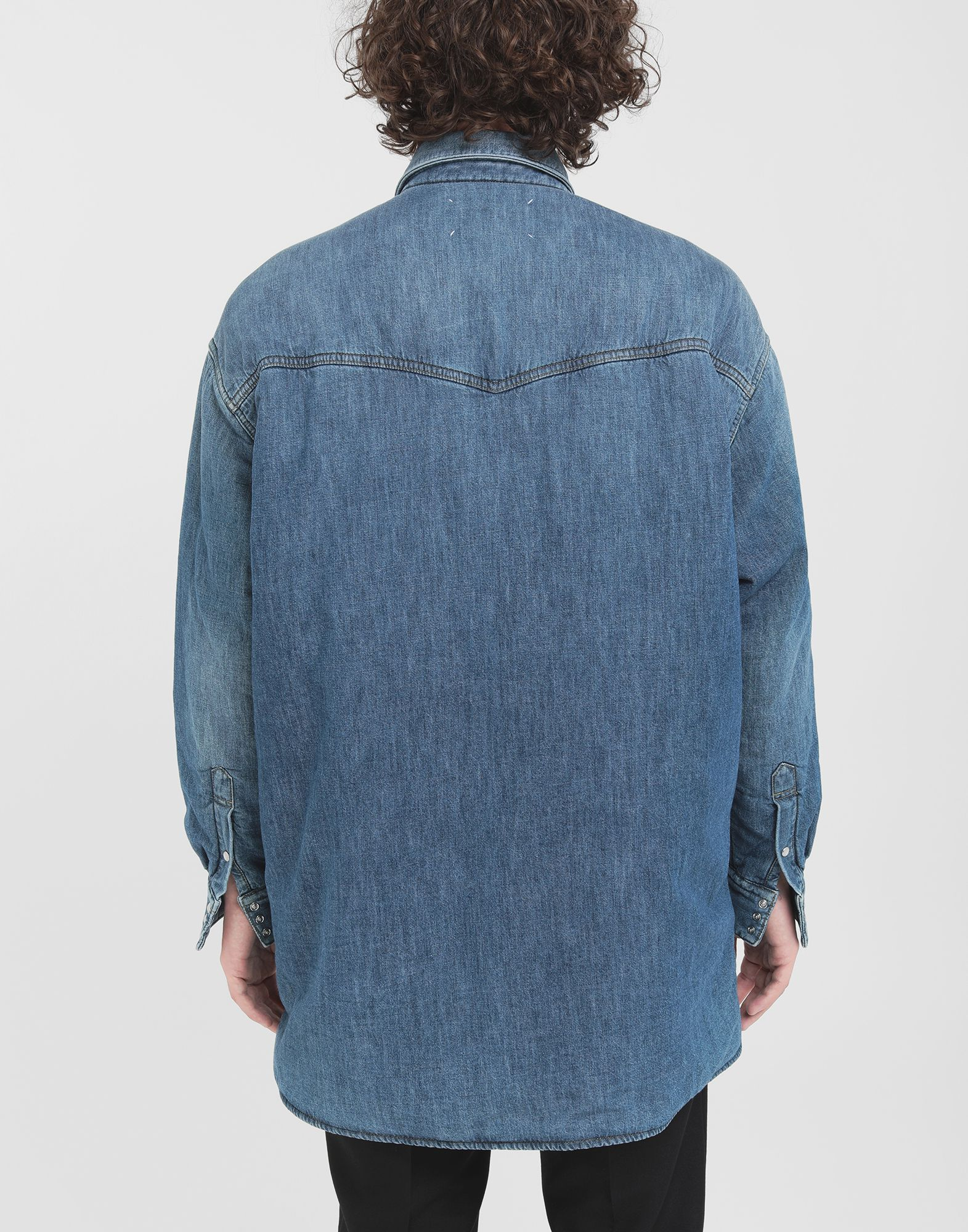 MAISON MARGIELA Oversized denim shirt Long sleeve shirt Man e