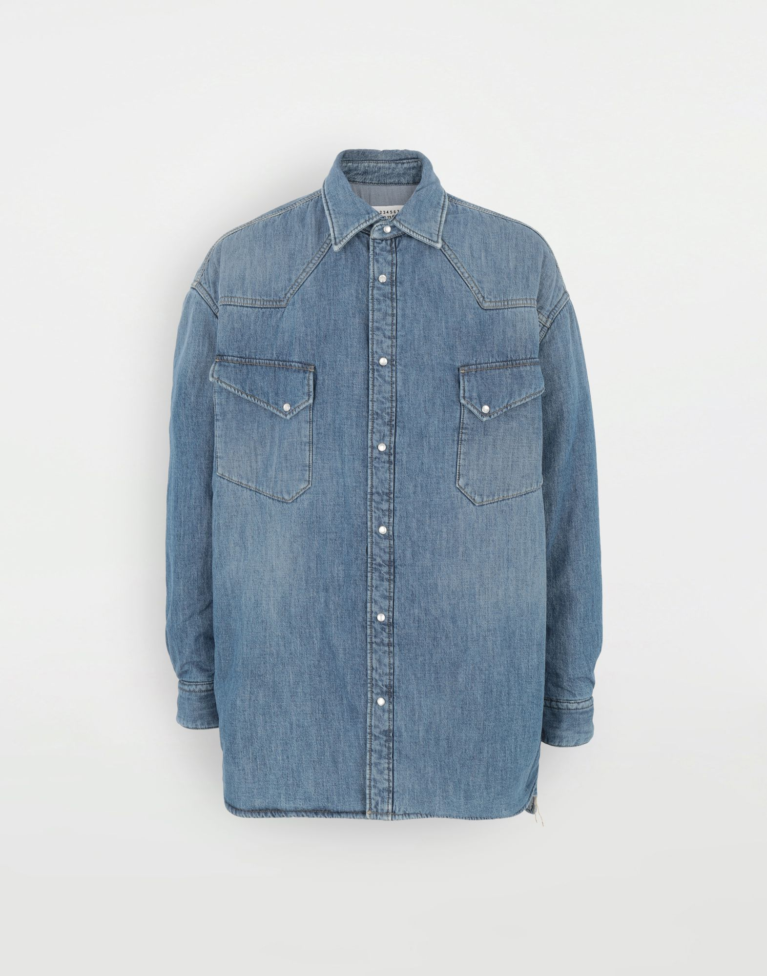 MAISON MARGIELA Oversized denim shirt Long sleeve shirt Man f