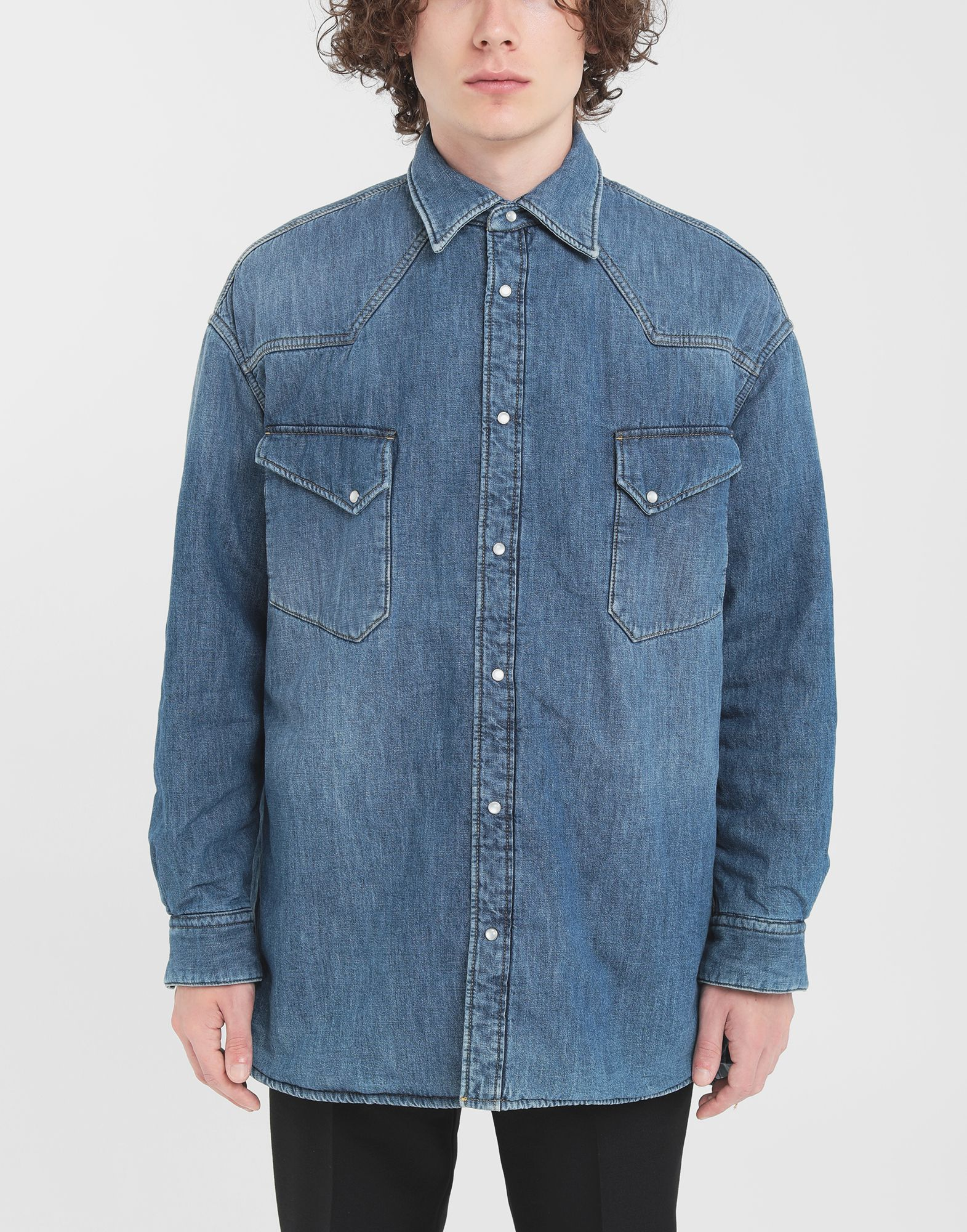 MAISON MARGIELA Oversized denim shirt Long sleeve shirt Man r