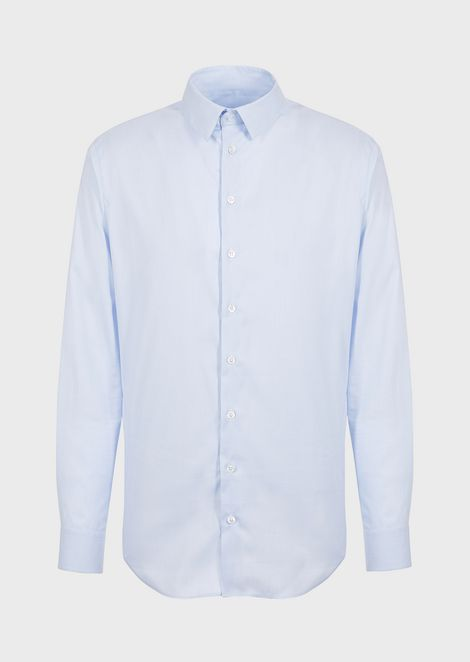 Regular-fit shirt in stretch fabric