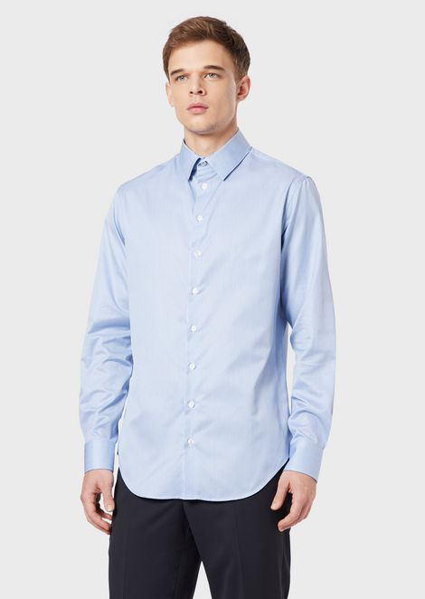 Regular-fit shirt in exclusive striped fabric