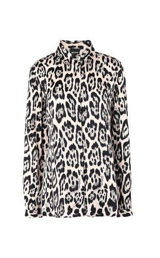 JUST CAVALLI Long sleeve shirt Woman Shirt with leopard-spot print f