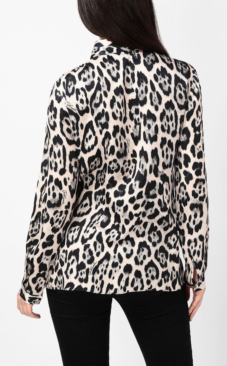 JUST CAVALLI Shirt with leopard-spot print Long sleeve shirt Woman a