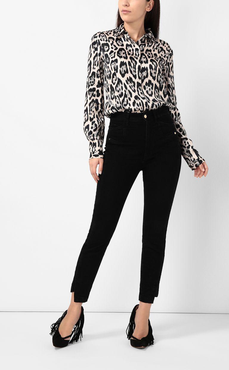 JUST CAVALLI Shirt with leopard-spot print Long sleeve shirt Woman d