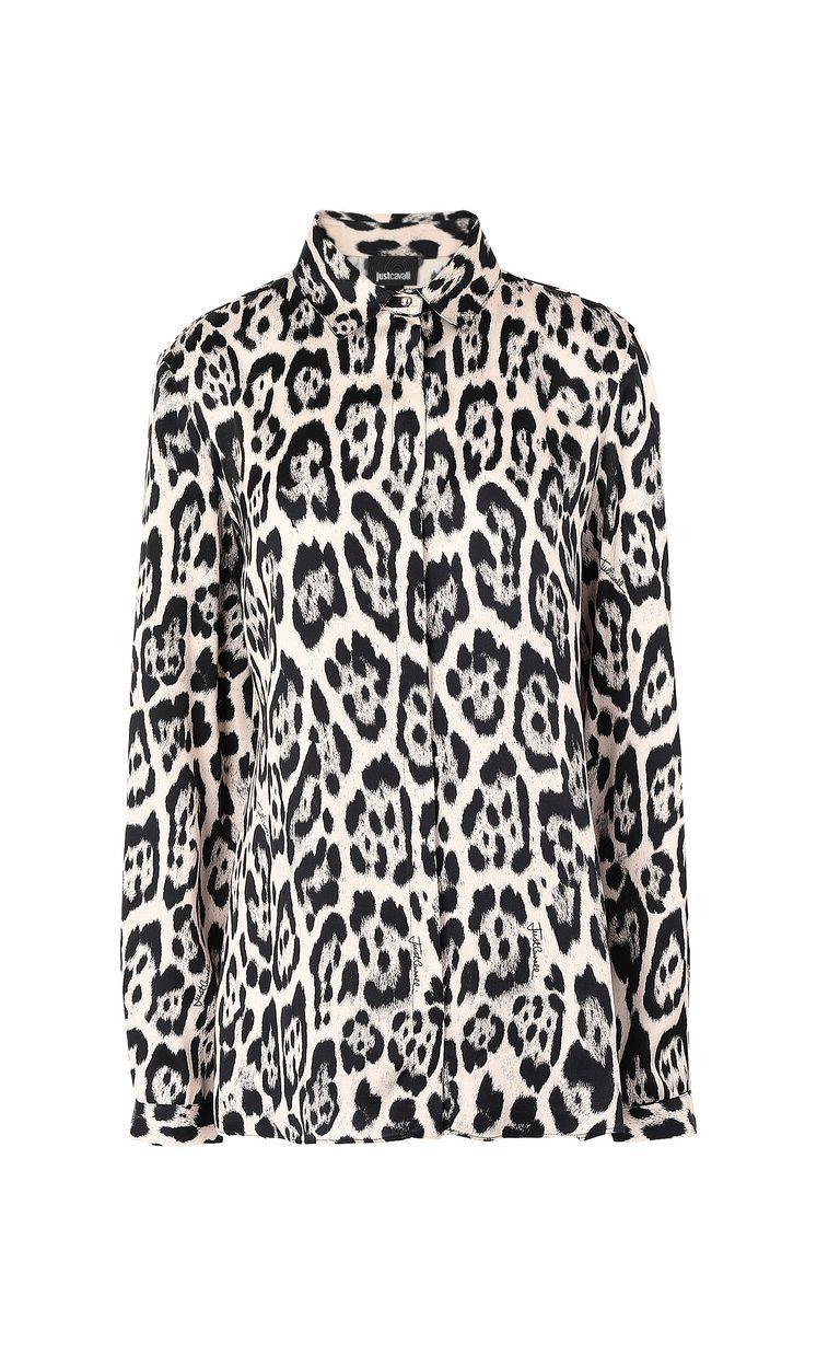 JUST CAVALLI Shirt with leopard-spot print Long sleeve shirt Woman f