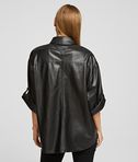 KARL LAGERFELD FAUX LEATHER SHIRT