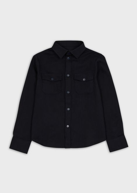 Shirt with pockets and embroidered logo