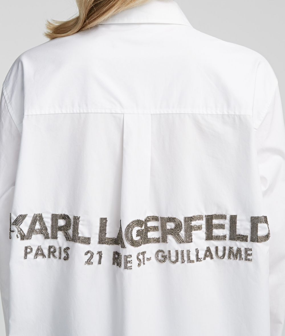 KARL LAGERFELD Karl Logo Shirt Blouse Woman d