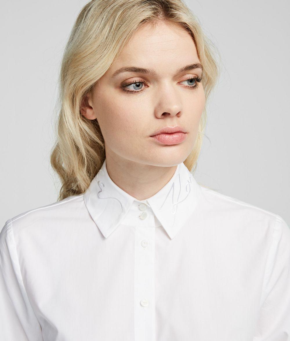 KARL LAGERFELD Logo-Collar Shirt Blouse Woman d