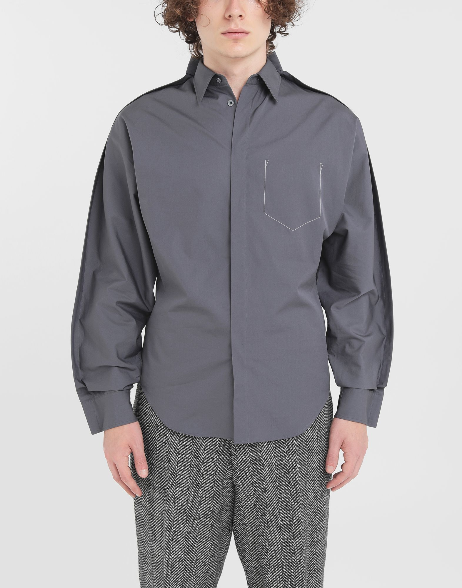 MAISON MARGIELA Outline shirt Long sleeve shirt Man r