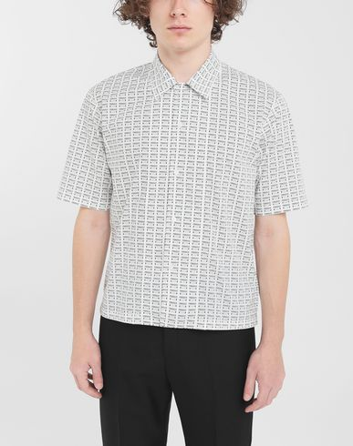 SHIRTS All-over Fragile print shirt White