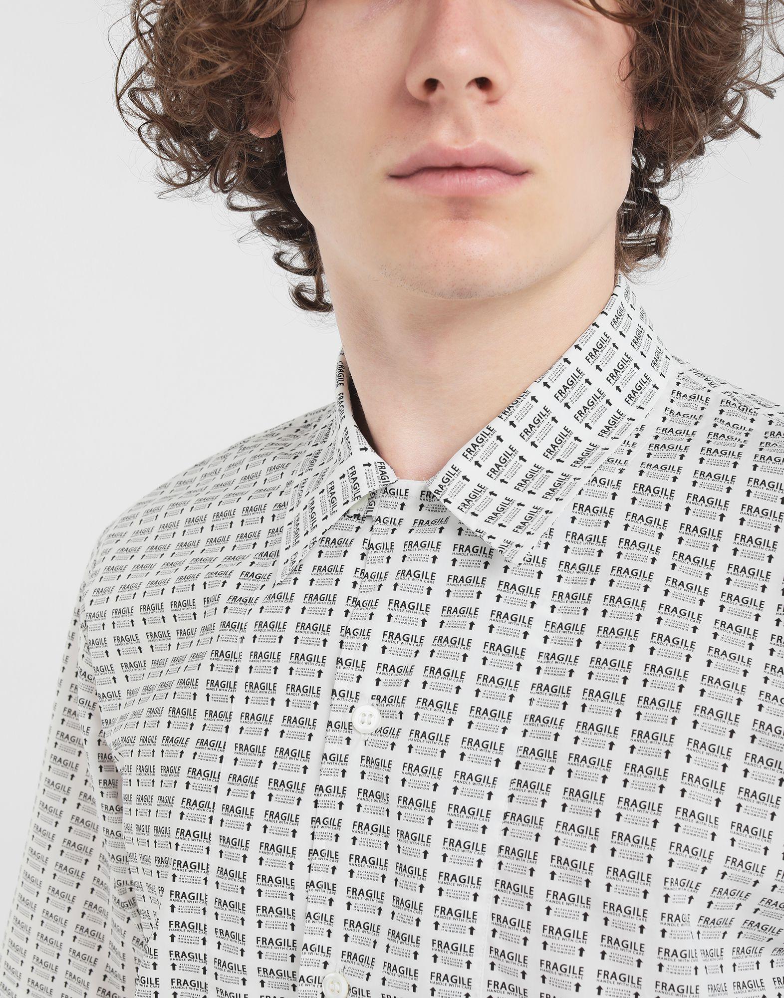 MAISON MARGIELA オールオーバー Fragileプリント シャツ 半袖シャツ メンズ a