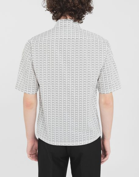 MAISON MARGIELA オールオーバー Fragileプリント シャツ 半袖シャツ メンズ e