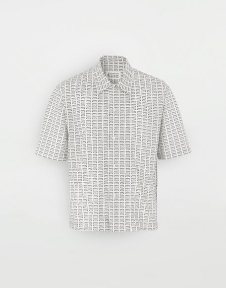 MAISON MARGIELA All-over Fragile print shirt Short sleeve shirt Man f
