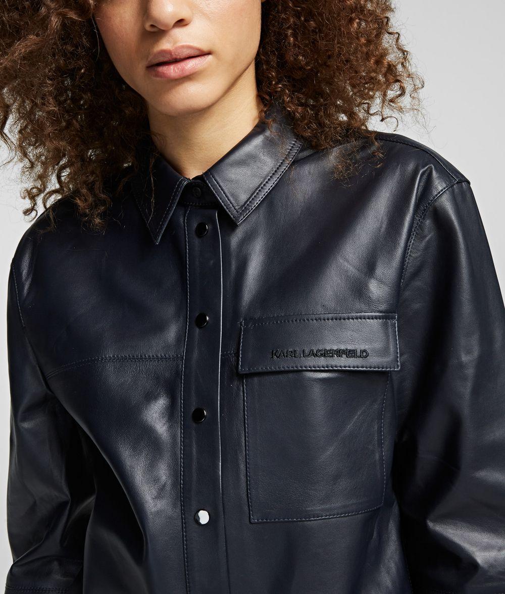 KARL LAGERFELD Leather Shirt Blouse Woman d