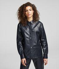 KARL LAGERFELD Leather Shirt 9_f