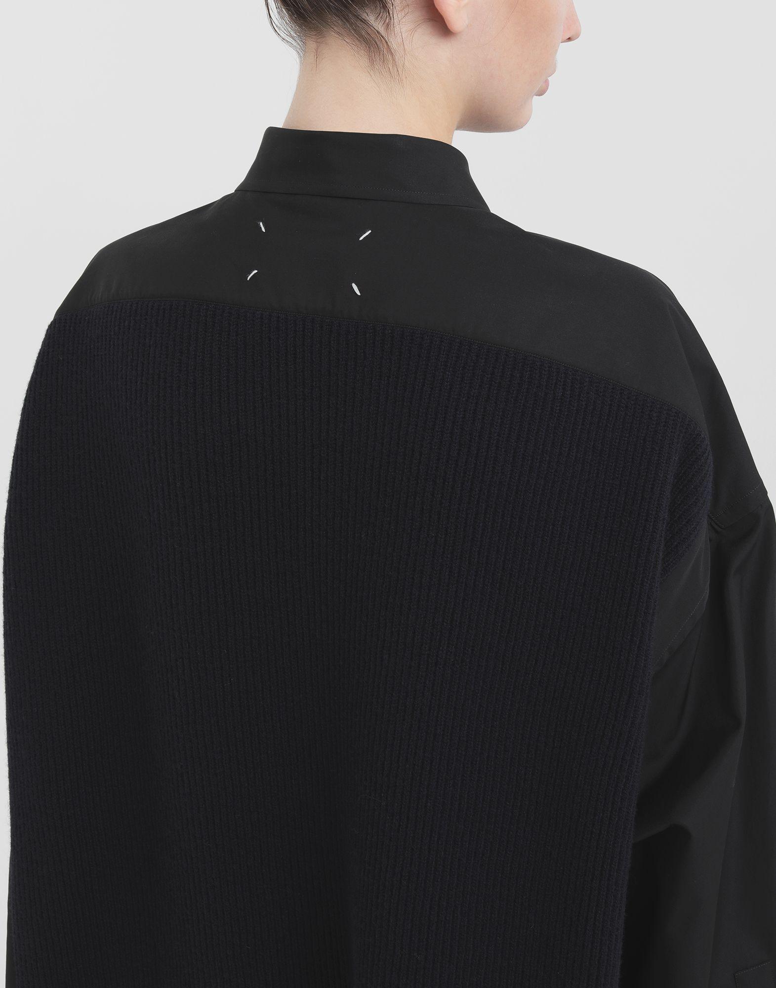 MAISON MARGIELA Spliced-Hemd mit Einsatz aus Strick Langarmhemd Dame e