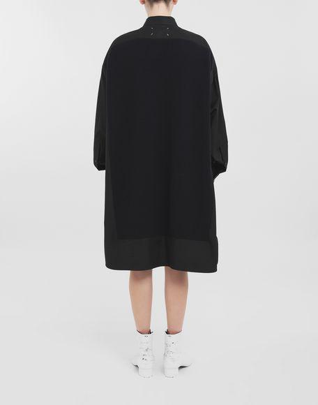 MAISON MARGIELA Spliced-Hemd mit Einsatz aus Strick Langarmhemd Dame d