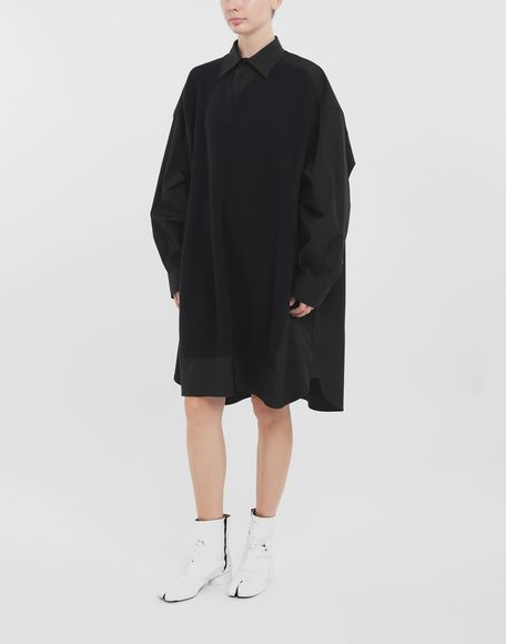 MAISON MARGIELA Camicia Spliced con pannelli in maglia Camicia maniche lunghe Donna r