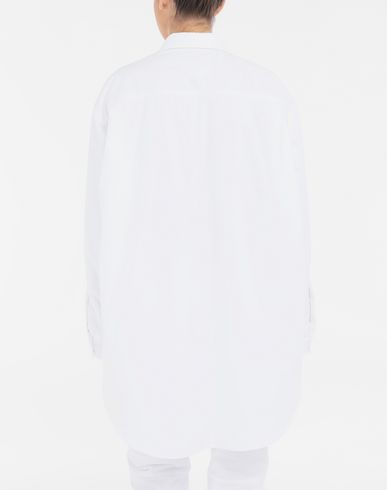SHIRTS Padded oversized shirt White