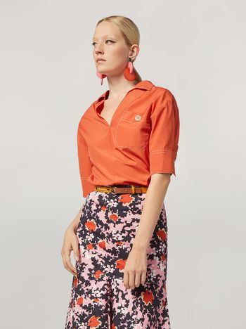 Marni Shirt in cotton poplin with chest pocket  Woman f