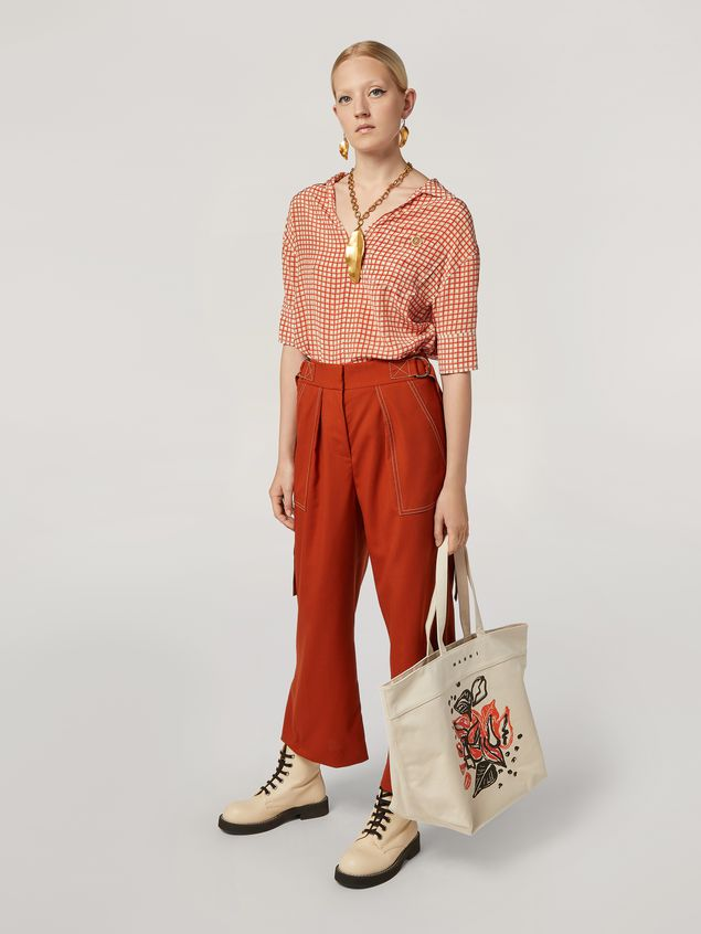 Marni Shirt in crepe de chine Hive print with chest pocket Woman - 5