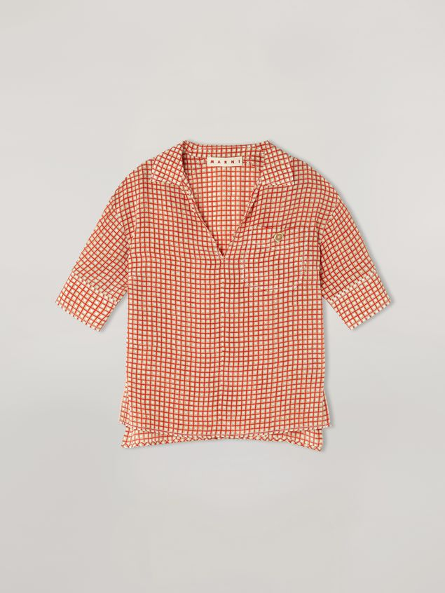 Marni Shirt in crepe de chine Hive print with chest pocket Woman - 2