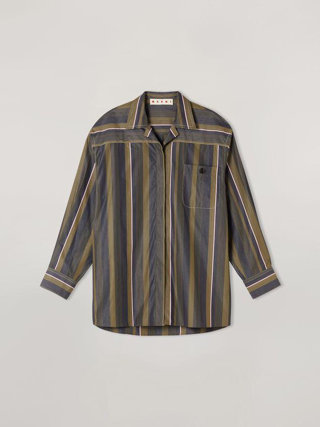Marni Camisa de popelina de rayas con hilo teñido y pespunte en contraste Mujer - 2