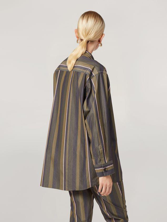 Marni Camisa de popelina de rayas con hilo teñido y pespunte en contraste Mujer - 3