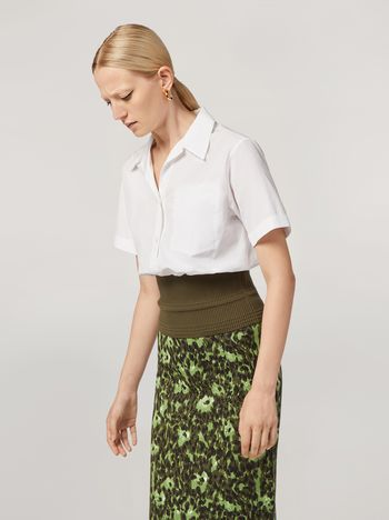 Marni Shirt in cotton poplin with knitted bottom Woman f