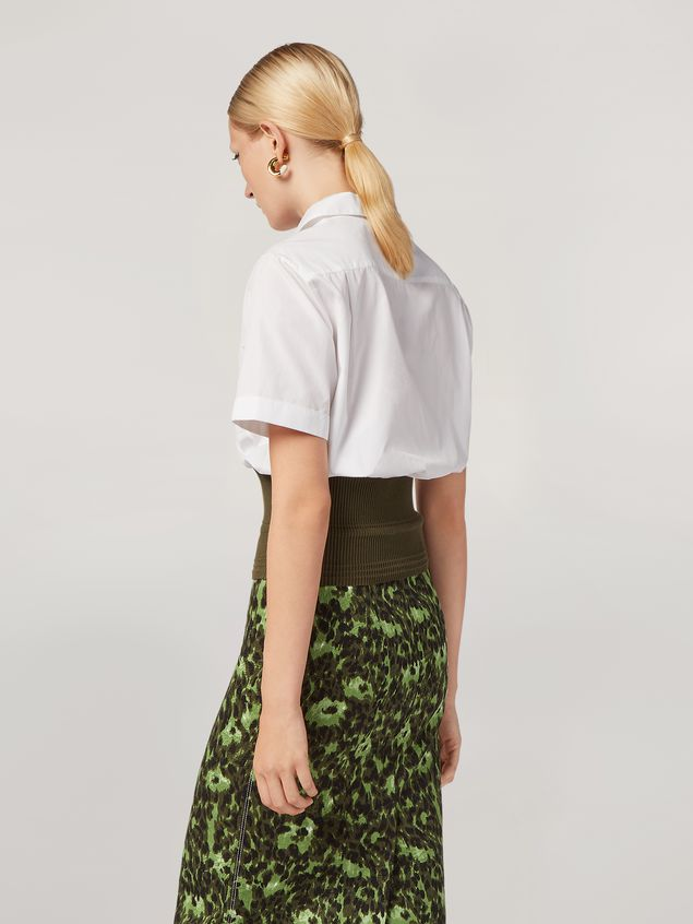 Marni Shirt in cotton poplin with knitted bottom Woman - 3