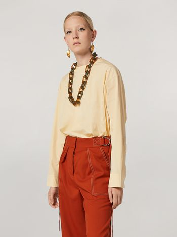 Marni Shirt in cotton poplin with back buttoning Woman f