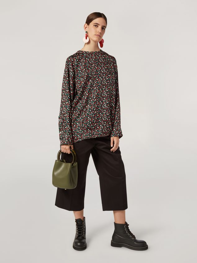 Marni Shirt in silk twill Liz print with back buttoning Woman - 5