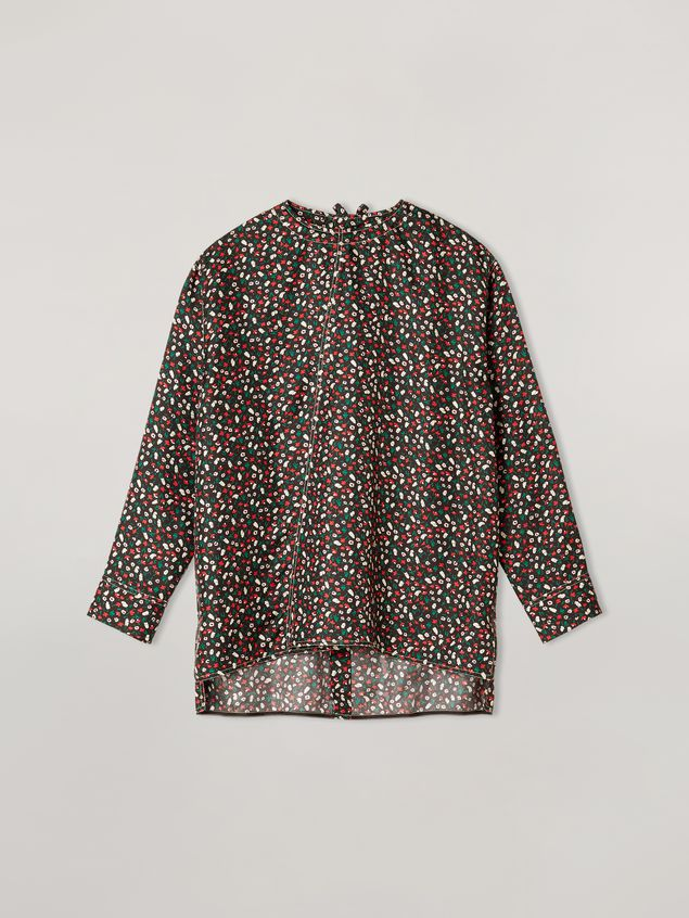 Marni Shirt in silk twill Liz print with back buttoning Woman - 2