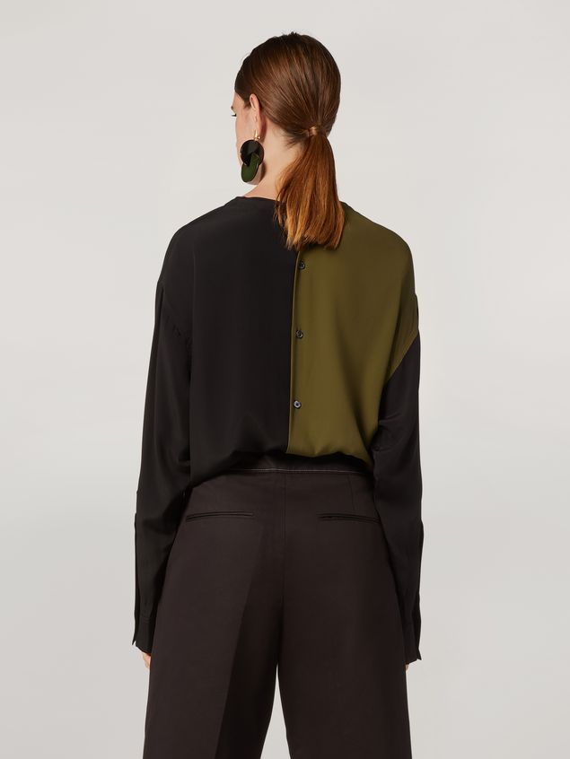 Marni Shirt in bi-coloured lightweight washed crepe Woman