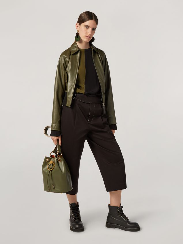 Marni Shirt in bi-coloured lightweight washed crepe Woman - 5