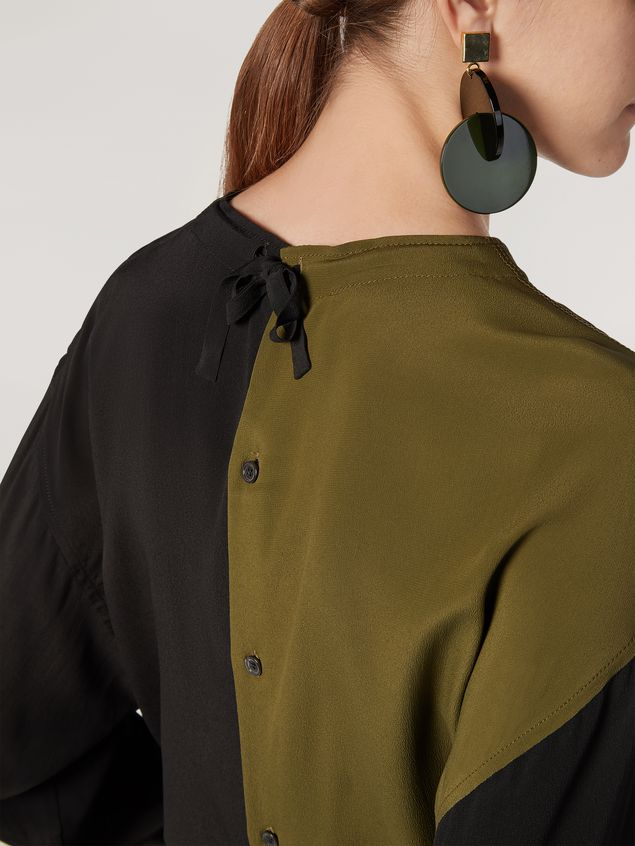 Marni Shirt in bi-coloured lightweight washed crepe Woman - 4