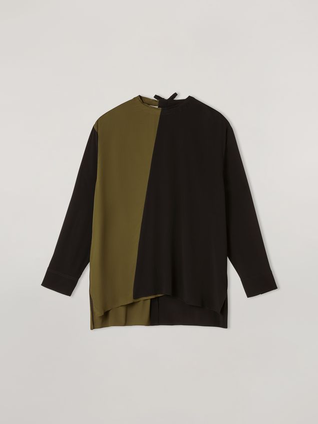 Marni Shirt in bi-coloured lightweight washed crepe Woman - 2