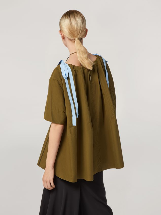Marni Shirt in cotton poplin with drawstring crewneck Woman