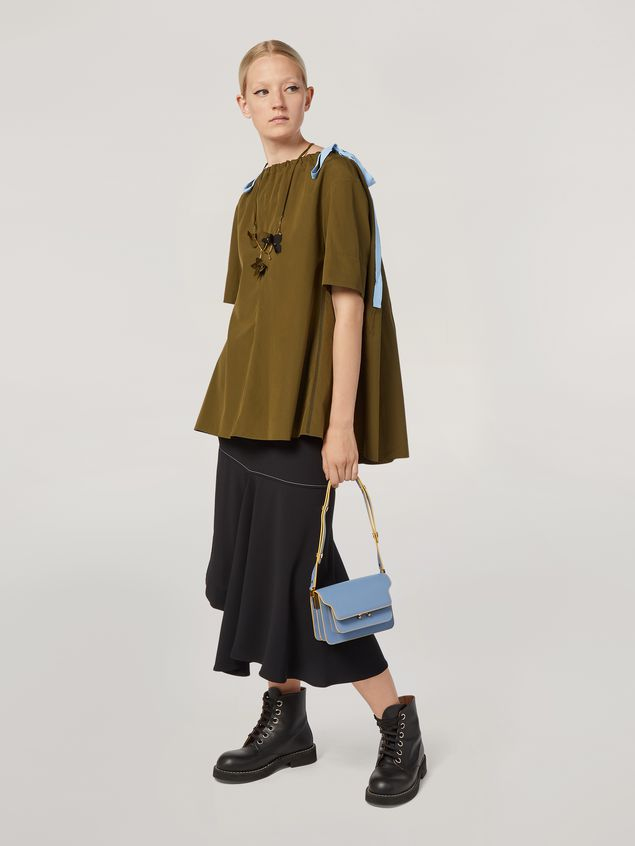 Marni Shirt in cotton poplin with drawstring crewneck Woman - 5